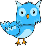 Blue Owl Vector Illustration vector illustration