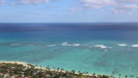 Blue Pacific in Kailua. View from Kaiwa Ridge at Pacific -  Oahu,  Hawaii stock video footage