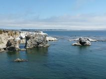 Blue pacific ocean. Beautiful blue pacific ocean in California stock photos