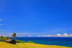 Blue Pacific ocean   Royalty Free Stock Photo