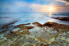 Blue pacific sunrise Stock Images