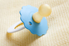 Blue pacifier Stock Photo