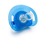 Blue pacifier isolated Stock Image
