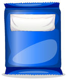 A blue packaging with an empty template for label Royalty Free Stock Photography