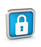 Blue padlock icon Royalty Free Stock Photo