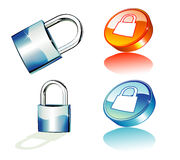 Blue Padlock icons Royalty Free Stock Images