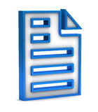 Blue page icon Royalty Free Stock Photo