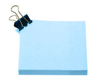 Blue pages of notebook Royalty Free Stock Photos