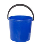 Blue pail. On a white background Royalty Free Stock Photography