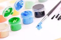 Blue Paint Stock Images