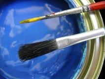 Blue Paint Stock Photo