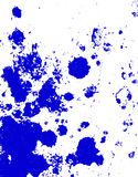 Blue paint blobs Royalty Free Stock Photo