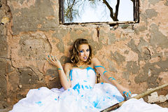 Blue Paint Bride Royalty Free Stock Photos