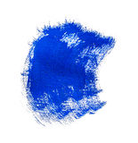 Blue paint brush stroke Stock Photography