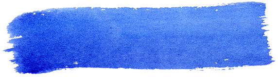 Blue paint brush Stock Image