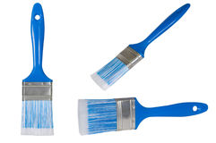 Blue paint brush . Stock Image