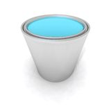 Blue paint can Royalty Free Stock Photo