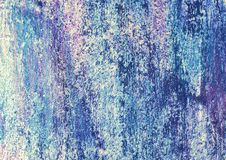 Blue Paint Corroded Metal Royalty Free Stock Photos