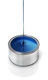 Blue paint dripping Stock Photography
