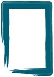 Blue paint frame Royalty Free Stock Photography