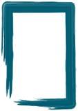 Blue paint frame stock illustration
