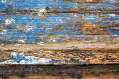 Blue paint mottled wooden doors Royalty Free Stock Photo