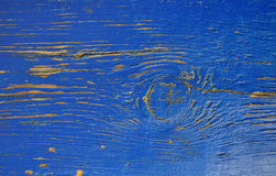 Blue paint old rust wood texture Stock Images
