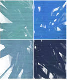 Blue paint and rib textures isolated Royalty Free Stock Images
