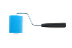 Blue Paint roller Royalty Free Stock Images