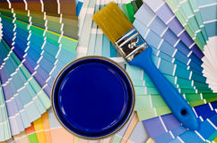 Blue paint sample. Royalty Free Stock Images