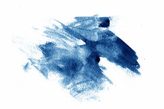 Blue paint smear. A blue paint smear isolated on white Stock Image