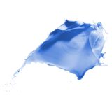 Blue paint splash Royalty Free Stock Images