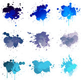 Blue paint splat Royalty Free Stock Photo