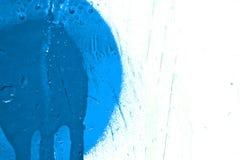 Blue paint splatter. On white background stock illustration
