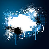 Blue paint splatter Royalty Free Stock Photos