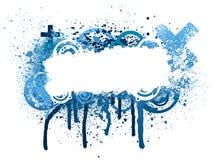 Blue paint splatter Stock Photos
