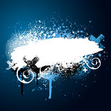 Blue paint splatter Stock Images