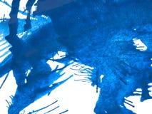 Blue Paint Splatter stock photography