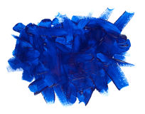 Blue paint stroke. Isolated on white background Royalty Free Stock Photos