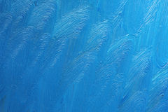 Blue Paint Strokes on Canvas Royalty Free Stock Images