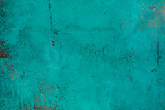 Blue paint strokes on grunge concrete wall Stock Photography