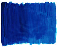 Blue paint texture. Blue colored acrylic paint texture on paper