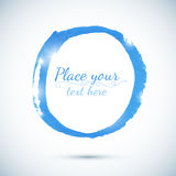 Blue paint vector circle template for your text Stock Images