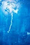 Blue paint wall stock photo