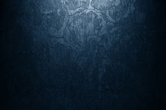 Blue paint wall background or texture Stock Photography