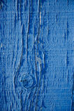 Blue paint on wood background Royalty Free Stock Photo