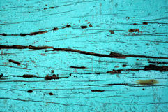 Blue paint on wood Royalty Free Stock Image
