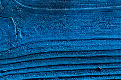 Blue paint on wood Stock Photography