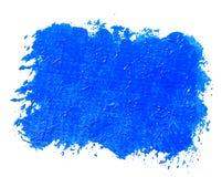 Blue painted banner. Acrylic background. Isolated on white royalty free illustration