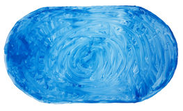 Blue painted banner. Banner painted with blue paint. Long circular strokes with a wide brush. Isolated vector illustration